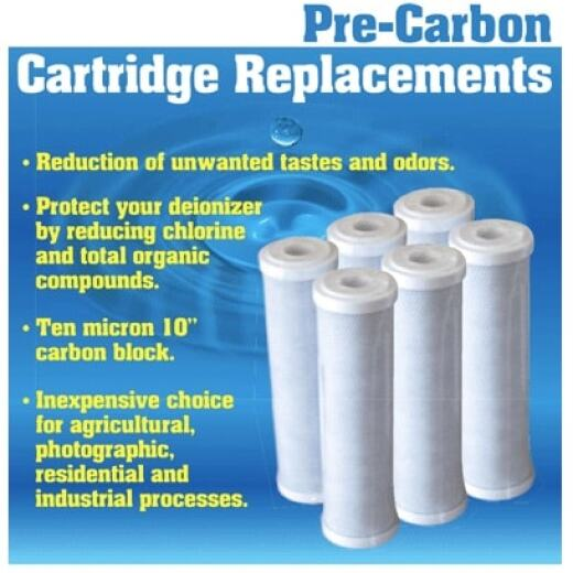 "Pre-Carbon Blk Cartridge Filters - 10"" x 2.5"""